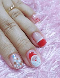 Uñas de Navidad 2021 Santa Claus