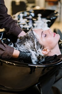 champú lavado del cabello