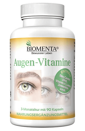 Nuestra solución recomendada es Biomenta Augen-Vitamine