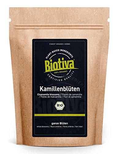 Tiene orgánico de manzanilla - 250 g - Agujeros orgánicos de manzanilla entera - Bienestar físico - Infusiones a granel - probadas en Alemania (DE-eco-005)