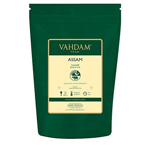 Hojas de té negro de Assam (más de 200 tazas), FUERTES, MALTA Y RICO, té flojo, 100% puro sin mezclar, hoja negra floja única, té caliente, té helado, té Kombucha, ...