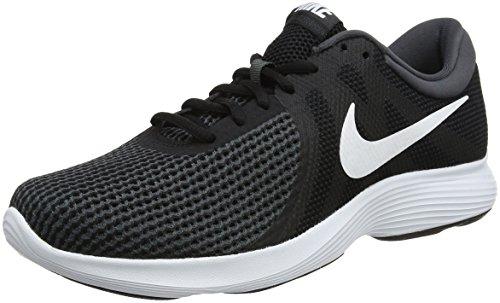 Nike REVOLUTION 4 EU, zapatos de running, hombre, negro (negro / blanco / antracita 001), 42,5 EU