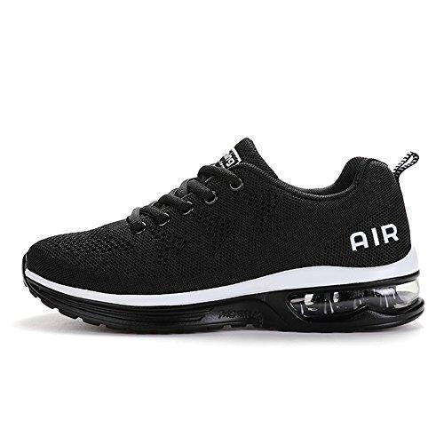 Zapatillas deportivas Axcone Hombre para mujer, zapatillas deportivas, baloncesto, baloncesto, deportivo, gimnasia exterior, blanco, negro 41