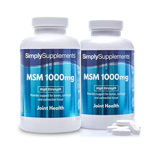 MSM 1000 mg - 360 comprimidos - 6 meses de tratamiento - SimplySupplements