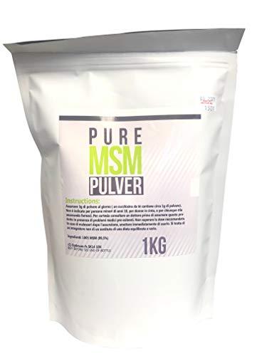 Polvo MSM puro de 1 kg: ideal para articulaciones + colágeno: en un tubo fácil de usar