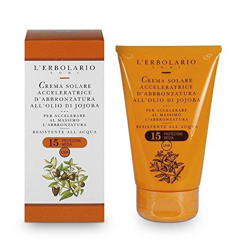 El Erbolario, Crema solar corporal Tanning Accelerator, estimula la melanina, SPF 15, 125 ml