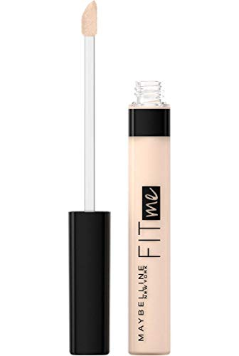 Maybelline New York Fit Me Corrector, fórmula líquida ligera, excelente cobertura, acabado anti fatiga, 15 justo, 6,8 ml