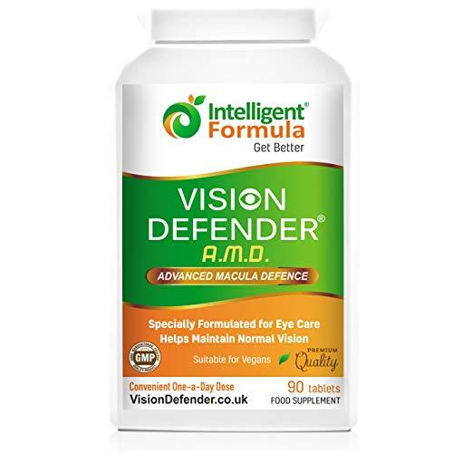 Suplemento AREDS2 VISION DEFENDER AMD: luteína, zeaxantina, zinc, vitamina E - Vitaminas AREDS 2, minerales, suplemento para la salud nutricional.  3 meses de ...