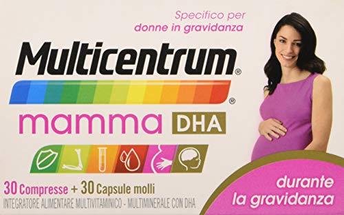 Multicentrum Mamma Dha 30+ - 30 comprimidos cápsulas blandas, complemento alimenticio multivitamínico adecuado para mujeres embarazadas