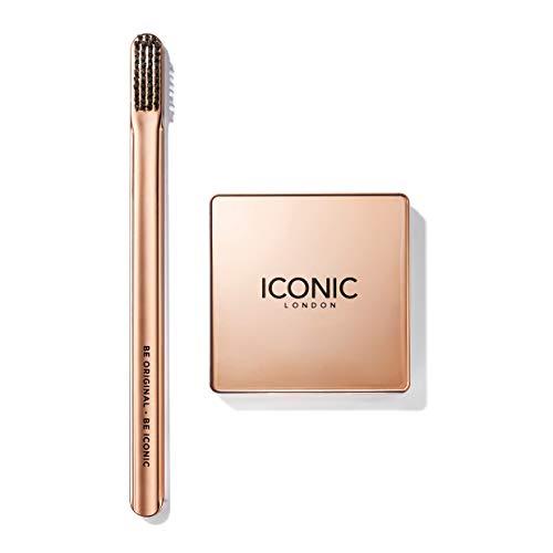 Paquete de seda y cepillos ICONIC London Brow: pasta de fijación para cejas y cepillo de dientes, 5 g