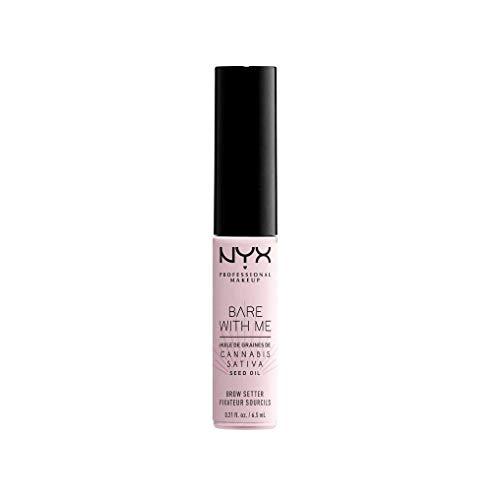 NYX Profesional Makeup Bare With Me Fijador de cejas de cáñamo, modelación de cejas, mantenimiento ligero a fuerte, enriquecido con aceite de semillas de cáñamo ...
