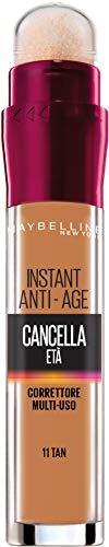 Maybelline New York The Clear Age Corrector Liquid con bayas de Goji y Haloxyl, cubre círculos oscuros y pequeñas arrugas, paquete individual, 11 marrones