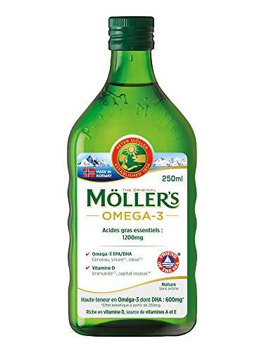 Omega 3 de Möller: aceite de hígado de bacalao, sin aromas, 250 ml