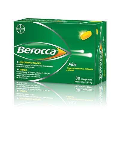 Berocca Plus - Suplemento de vitamina B, vitamina C y calcio para el rendimiento y la energía mentales - 30 tabletas empassables