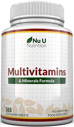 Suplemento multivitamínico y multimineral    365 tabletas (suministro hasta 1 año)    24 vitaminas y minerales para hombres y mujeres, aptos para vegetarianos    ...
