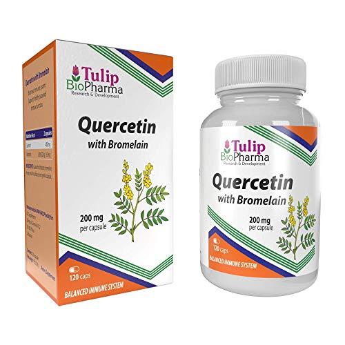 Quercetina con bromelina 120 cápsulas Suplemento inmunitario de alta biodisponibilidad