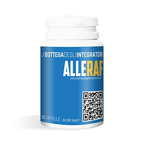 Quercetina, acetilcisteína de bromelina |  fortalece el sistema inmunitario |  contra los síntomas de resfriados, nariz tapada, mucosidad, flema y sinusitis Alleraf 20 cápsulas |  ...
