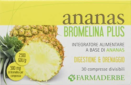 Farmaderbe 67.977 Piña Bromelain Plus, suplemento alimentario, 30 comprimidos