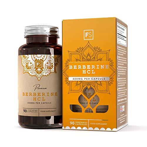 FS Berberine HCL [400 mg] todo natural    90 cápsulas veganas con extracto de pimienta negra para una mejor absorción    SOPORTE INMUNITARIO NATURAL    Sin gluten y ...