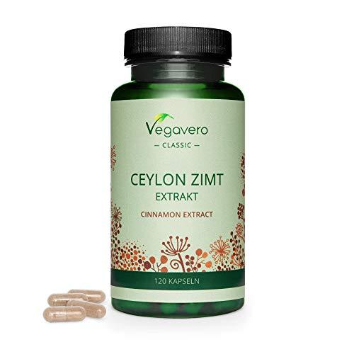 CAÑA Vegavero®    2000 mg    CEYLON Cinnamon: la mejor variedad    120 cápsulas    vegano