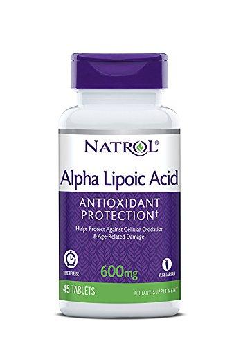 Liberación de tiempo de ácido alfa lipoico Natrol 600 mt - 45 comprimidos