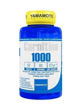 Yamamoto Nutrition Carnitine 1000 Carnitine Supplement alimentario: 90 comprimidos, 122 g
