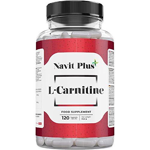 Naviter Plus L-Carnitina natural pura |  Mejorar la energía, la resistencia y la recuperación posterior al entrenamiento |  Complemento deportivo para la definición y ...