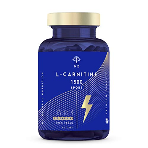 L CARNITINA 1500 Natural.  Mejorar el desarrollo deportivo.  Crema de grasas.  Pérdida de peso.  Proporciona energía.  Suplemento de aminoácidos.  120 cápsulas vegetarianas ....