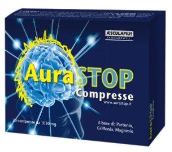 Comprimidos Aurastop - Suplemento natural contra el Cefalea - Cefalea - Cefalea con Aura - a base de Matric, Griffonia y Magnesio - Sin Gluten (Apto para ...