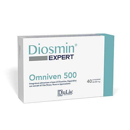 Dulac - Omniven 500-40 comprimidos - Diosmina (450 mg), Hesperidina (50 mg), vid roja, escoba de carnicero, castaño de Indias - Hemorroides y microcirculación - Notificado el Ministerio de Sanidad ...