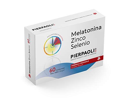 Pierpaolo Melatonina Zinc Selenio -1 mg, 60 comprimidos