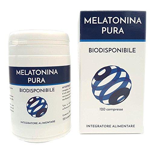 Melatonina pura biodisponible Naturpharma 120 comprimidos    suplemento natural que reduce el tiempo necesario para dormirse    Vegano sin lactosa sin gluten ...