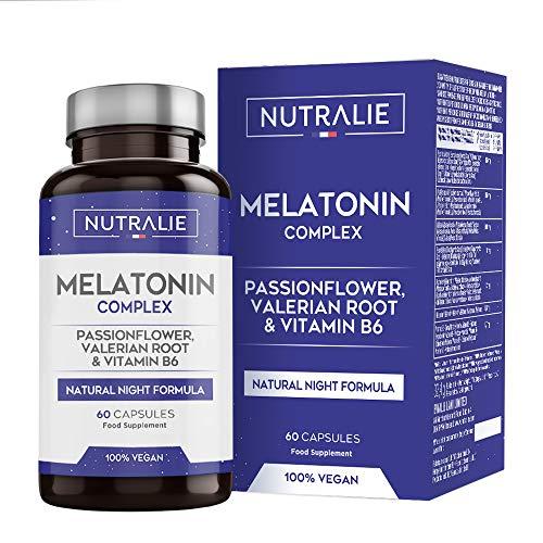 Melatonina pura 1,8 mg con valeriana y tilo    Duerme, insomnio y descansa mejor con melatonina, valeriana, tilo, flor de la pasión, bálsamo de limón y amapola de California ...