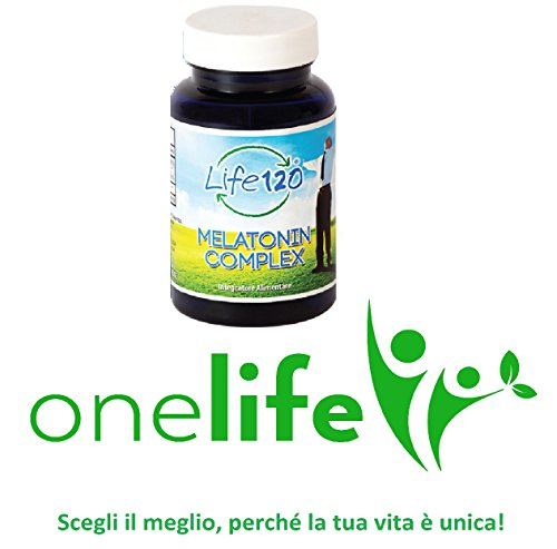 Complejo de melatonina por Life 120    Complemento alimenticio 180 comprimidos con melatonina para el sueño, vitamina B6, selenio y zinc Distribuidor exclusivo de OneLife