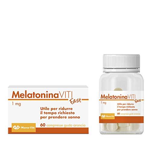 Suplemento alimenticio Marco Viti de melatonina, 60 comprimidos 150gr (Melatonina 1 mg / comprimido