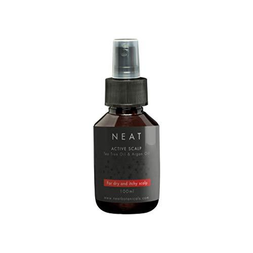 NEAT Spray hidratante para el cuero cabelludo Y 100 ml Y Tratamiento del cuero cabelludo con picor seca Y con aceite de árbol de té y aceite de argán Y calma el picor y ...