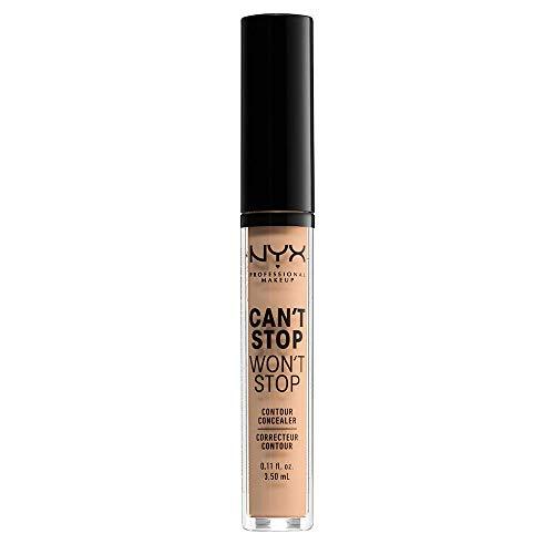 NYX Profesional Makeup Can not Stop Will not Stop Corrector, corrector facial líquido, apto para todos los tonos de la piel, natural, 1 paquete