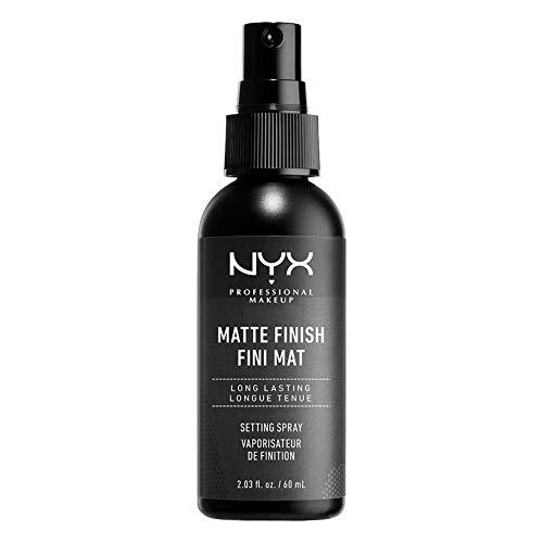 NYX Profesional Makeup spray spray spray setting setting, fórmula ligera de larga duración, acabado mate, paquete de 1