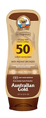 Protección solar australiana con agente bronceador de oro SPF 50 de 237 ml