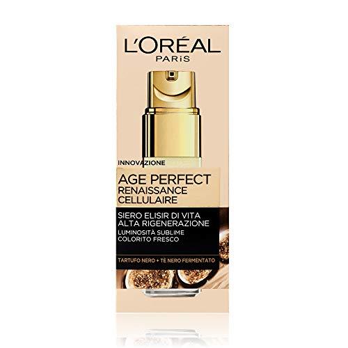 L'Oréal Paris Age Perfect Renacimiento cellulaire Suero facial iluminando antiarrugas, piel madura, 30 ml