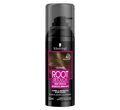 Schwarzkopf Retouch Regrowth, Spray Temporal Regrowth Hair, Marrón, 120 ml