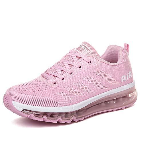 Hombre Mujer Deportiva Zapatillas deportivas Zapatillas deportivas Baloncesto baloncesto Al aire libre Fitness rosa blanco 36