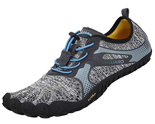 SAGUARO Calzado descalzo minimalista Hombre Mujer Zapatos polideportivas para correr / entrenar / trekking / trail running / gimnasio / roca para caminar agua de arena - suave y cómoda ...