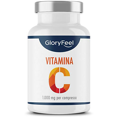 Alta dosis de vitamina C 1000 mg, 200 comprimidos veganos (6 meses), vitamina C pura para fortalecer el sistema inmunitario, suplemento de defensas inmunológicas, vitamina C sin ...
