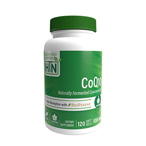 CoQ10 100 mg 120 cámaras blandas no transgénicas, 100% coenzima natural Q-10
