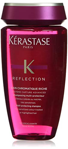 Kérastase Reflection Bain Chromatique Riche, champú protector para cabellos de colores y blanqueados especialmente sensibilizados, 250 ml