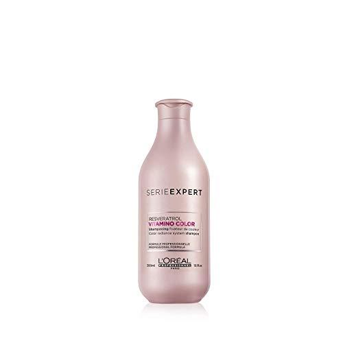 L'Oréal Professionnel Paris - Champú Serie Experto Vitamino Color Profesional para el pelo de colores, protección del color hasta 8 semanas, brillo ...