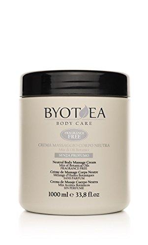 Crema de masaje corporal neutra sin perfumes Byothea - 1000 ml