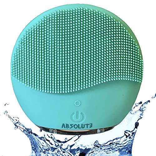 Cepillo de limpieza facial Silicona ABSOLUTA.  Limpiador facial, doble cara, masaje facial exfoliante eléctrico, IPX7 impermeable, recargable por USB, exfoliante corporal ...