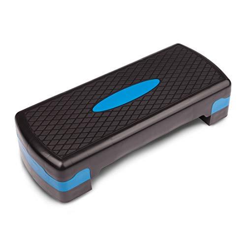 Ultrasports Step Multifunción Ideal para aeróbic y fitness, Tapboard, banco de paso, ajustable en 3 alturas, con superficie antideslizante, adulto unisex, negro / azul, ...